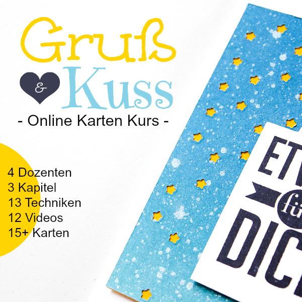 Karten Online Kurs Gruß und Kuss mit Janna Werner